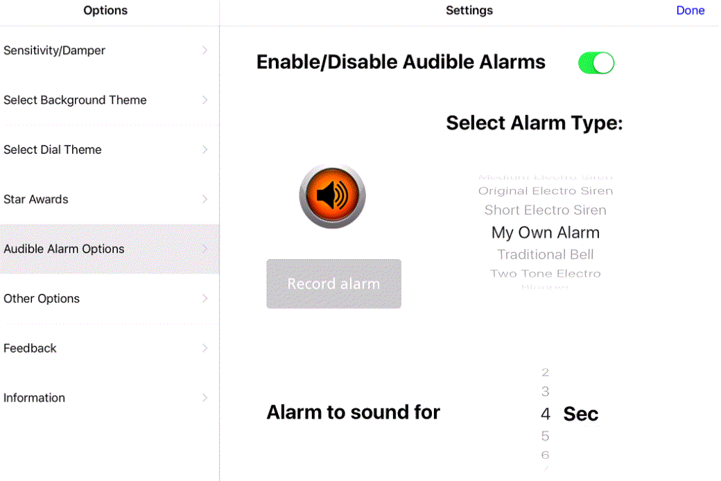 alarm on Too Noisy Pro